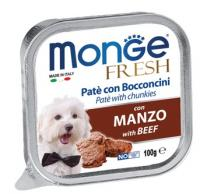 Корм для собак Monge dog fresh 100 г говядина
