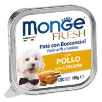 Корм для собак Monge dog fresh 100 г курица