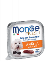 Корм для собак Monge dog fresh 100 г утка